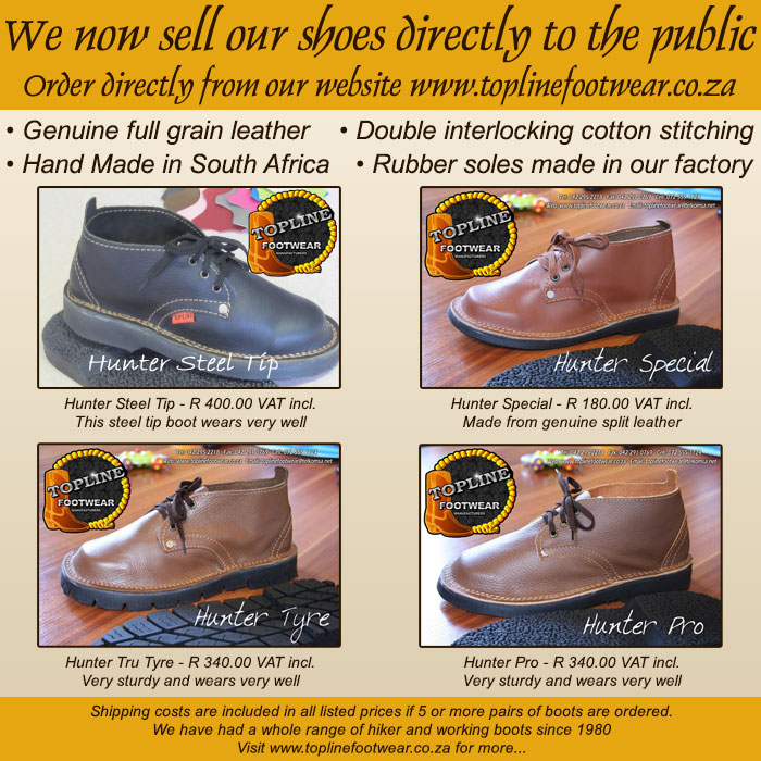 We now sell our shoes directly to the public